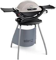 Weber Q 220 on the stand, titanium